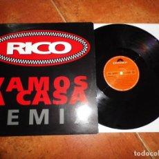 Discos de vinilo: RICO VAMOS A CASA REMIX MAXI SINGLE VINILO 1992 NACHO GARCIA VEGA NACHA POP CONTIENE 3 TEMAS RARO. Lote 137557986