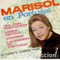 Discos de vinilo: EP MARISOL EN PORTUGAL : UNA CASA PORTUGUESA + 3 ( MUY BUEN ESTADO ). Lote 137560878