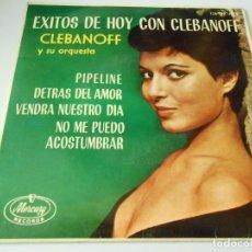 Discos de vinilo: CLEBANOFF Y SU ORQUESTA, EP, PIPELINE + 3, AÑO 1963. Lote 137561322