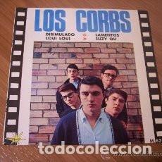 Discos de vinilo: EP LOS CORBS : DISIMULANDO + LOUI LOUI ( CHUCK BERRY) + LAMENTOS + SUZY QU . Lote 137561370