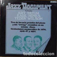 Discos de vinilo: EARL HINES / ART TATUM / TEDDY WILSON - THE SWING PIANO: EARL HINES - ART TATUM - TEDDY WILSON (LP, . Lote 137564022