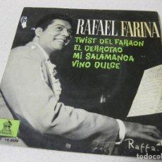 Discos de vinilo: EP RAFAEL FARINA - TWIST DEL FARAON. Lote 137568266