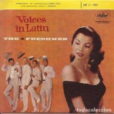 Discos de vinilo: EP-THE FOUR FRESHMEN VOICES IN LATIN CAPITOL 1-922 FRANCE VOCAL GROUP. Lote 137601566