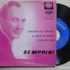 Discos de vinilo: ALBERTO SEMPRINI CONCIERTO DE VARSOVIA - EP 1961 - LA VOZ DE SU AMO. Lote 137604518