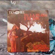 Discos de vinilo: CARLOS ROMERO – TU, LA PLAYA Y EL SOL - DISCOPHON – S-5263 - 1974. Lote 137617818