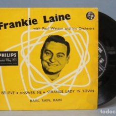 Discos de vinilo: EP. FRANKIE LAINE WITH PAUL WESTON AND HIS ORCHESTRA. ED. G. BRETAÑA. Lote 137661078