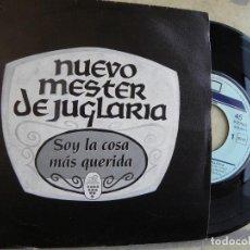 Discos de vinilo: NUEVO MESTER DE JUGLARIA -SOY LA COSA MAS QUERIDA ESPAÑA -EP 1990,MISMA CANCIONES POR AMBAS CARAS. Lote 137661618