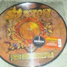 Discos de vinilo: SAXON - INTO THE LABYRINTH. PICTURE DISC. RECORD STORE DAY. NUEVO!!!. Lote 137664506