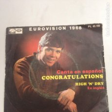 Discos de vinilo: CLIFF RICHARD - CONGRATULATIONS. Lote 137668734