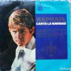 Discos de vinilo: RAPHAEL - CANTA A LA NAVIDAD - EP 1965. Lote 137670454