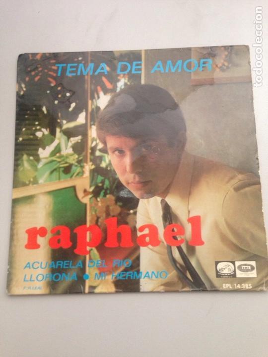 RAPHAEL - TEMA DE AMOR (Música - Discos - Singles Vinilo - Cantautores Españoles)