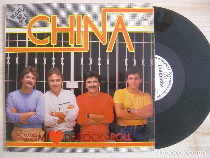 CHINA - NO PUEDES COMPRENDER MI CORAZON DE ROCK AND ROLL - MAXI SINGLE PROMOCIONAL 1983 - COLUMBIA (Música - Discos de Vinilo - Maxi Singles - Grupos Españoles de los 70 y 80)