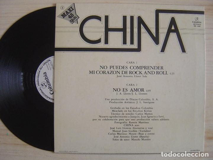 Discos de vinilo: CHINA - no puedes comprender mi corazon de rock and roll - MAXI SINGLE PROMOCIONAL 1983 - COLUMBIA - Foto 2 - 137694354