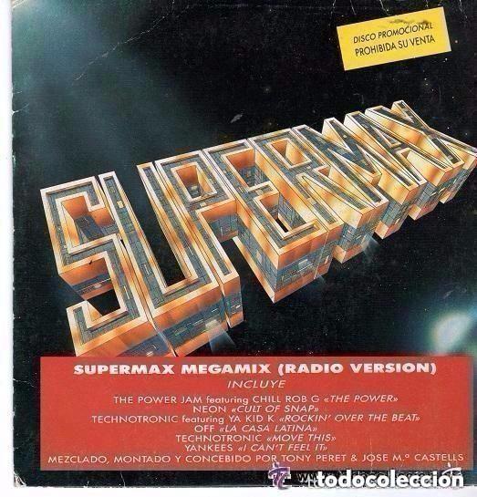 SUPERMAX MEGAMIX RADIO VERSION SINGLE PROMO 1990 (Música - Discos - Singles Vinilo - Techno, Trance y House)