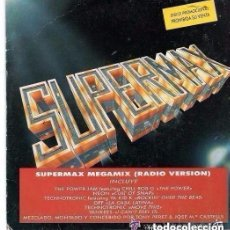 Discos de vinilo: SUPERMAX MEGAMIX RADIO VERSION SINGLE PROMO 1990. Lote 137697654