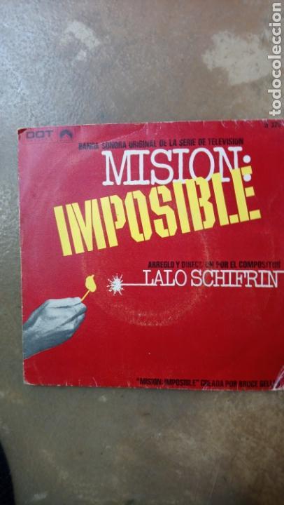 MISION:IMPOSIBLE. LALO SCHIFRIN. BANDA SONORA SINGLE 1968. (Música - Discos - Singles Vinilo - Bandas Sonoras y Actores)