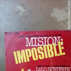 Discos de vinilo: MISION:IMPOSIBLE. LALO SCHIFRIN. BANDA SONORA SINGLE 1968.. Lote 137706368