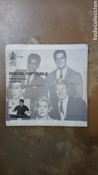 Discos de vinilo: Mision:Imposible. Lalo schifrin. Banda sonora single 1968. - Foto 2 - 137706368