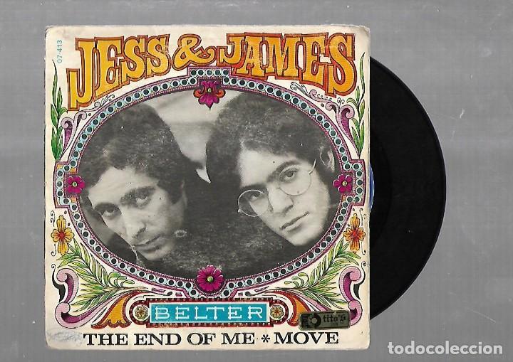SINGLE. JESS & JAMES. THE END OF ME / MOVE. 1968. BELTER (Música - Discos - Singles Vinilo - Pop - Rock Extranjero de los 50 y 60)