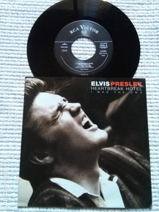 ELVIS PRESLEY - '' HEARTBREAK HOTEL + 3 '' VINYL 7'' EP 1996 EU (Música - Discos de Vinilo - EPs - Rock & Roll)