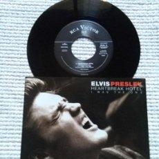 Discos de vinilo: ELVIS PRESLEY - '' HEARTBREAK HOTEL + 3 '' VINYL 7'' EP 1996 EU. Lote 137717966
