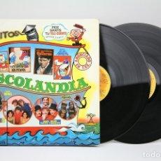 Discos de vinilo: DOBLE DISCO LP DE VINILO - DISCOLANDIA / PARCHIS, LOS PITUFOS.... - BELTER - AÑO 1980. Lote 137729348