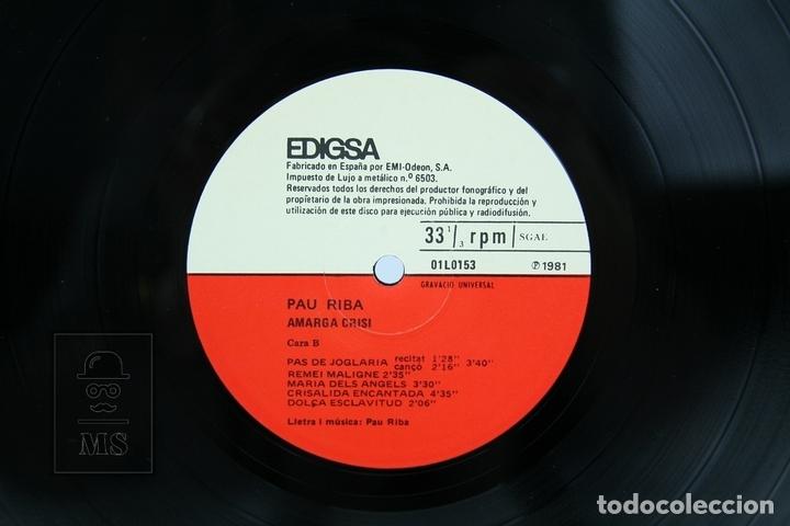 Discos de vinilo: Disco LP De Vinilo - Pau Riba / Amarga Crisi - Edigsa - Año 1981 - Con Letras - Foto 2 - 137730104