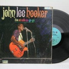 Discos de vinilo: DISCO LP DE VINILO - JOHN LEE HOOKER / LIVE AT CAFE AU-GO-GO - BLUES WAY - AÑO 1967 - MADE IN USA. Lote 148732816