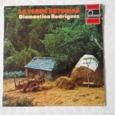 Discos de vinilo: LA VERDE ASTURIAS. DIAMANTINA RODRIGUEZ. LP CON 14 CANCIONES ASTURIANAS.. Lote 137743258