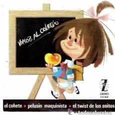 Discos de vinilo: LOS CHAVALITOS TV ( FAMILIA TELERÍN) - VAMOS AL COLEGIO + 3 TEMAS -EP ZAFIRO 1965 + HOJA CON LETRAS. Lote 137746782