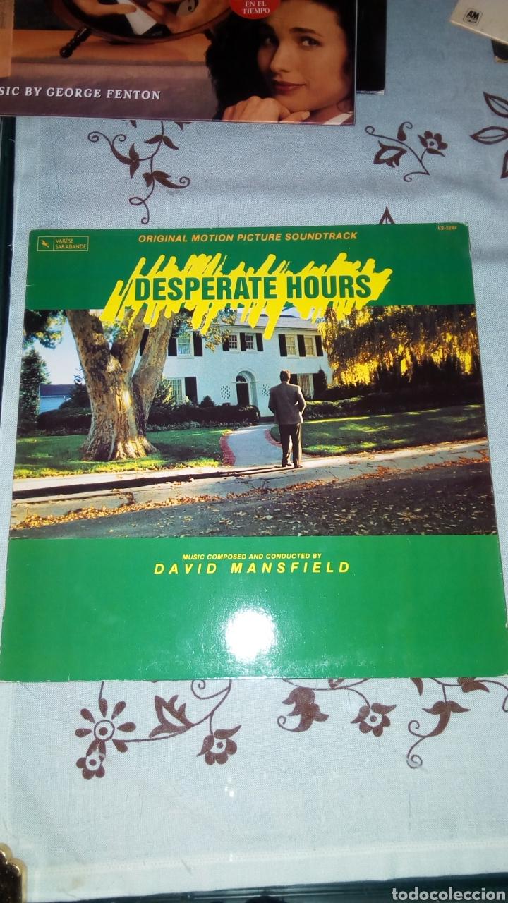DESPERATE HOURS. HORAS DESESPERADAS. MICHAEL CIMINO. BSO. LP VINILO. DAVID MANSFIELD (Música - Discos - LP Vinilo - Bandas Sonoras y Música de Actores )