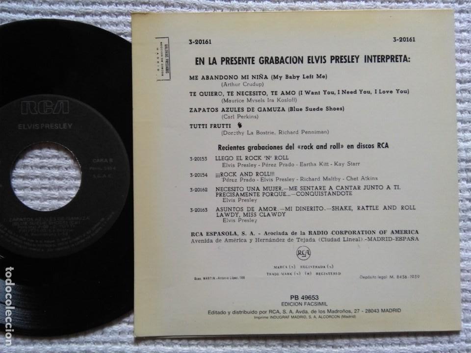 Discos de vinilo: ELVIS PRESLEY '' ... Y EL ROCK AND ROLL '' EP 7'' REISSUE SPAIN 1987 - Foto 2 - 137769870