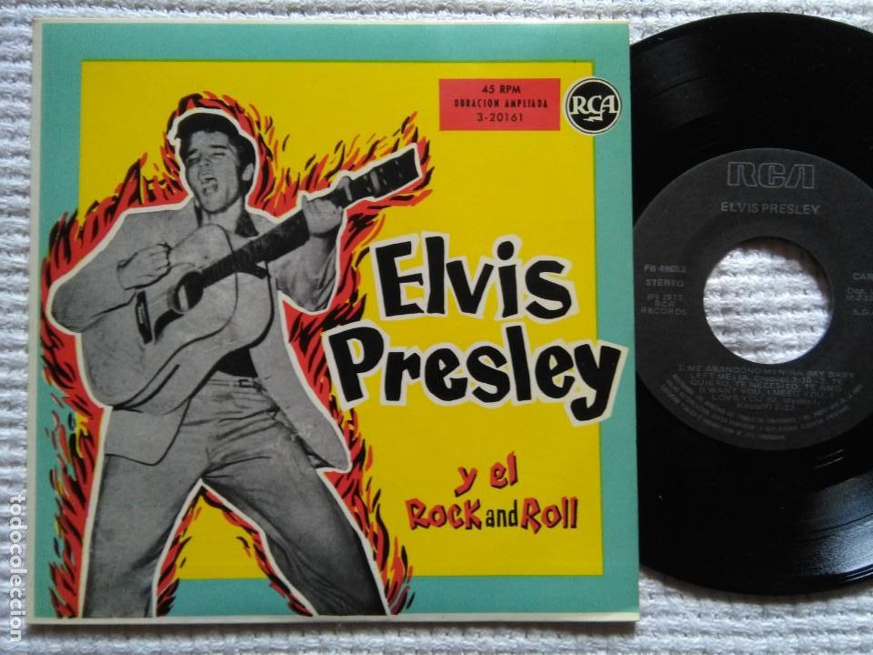 ELVIS PRESLEY '' ... Y EL ROCK AND ROLL '' EP 7'' REISSUE SPAIN 1987 (Música - Discos de Vinilo - EPs - Rock & Roll)