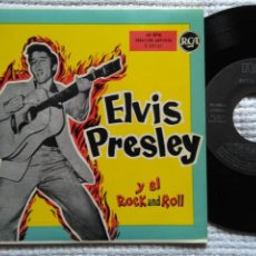 Discos de vinilo: ELVIS PRESLEY '' ... Y EL ROCK AND ROLL '' EP 7'' REISSUE SPAIN 1987. Lote 137769870