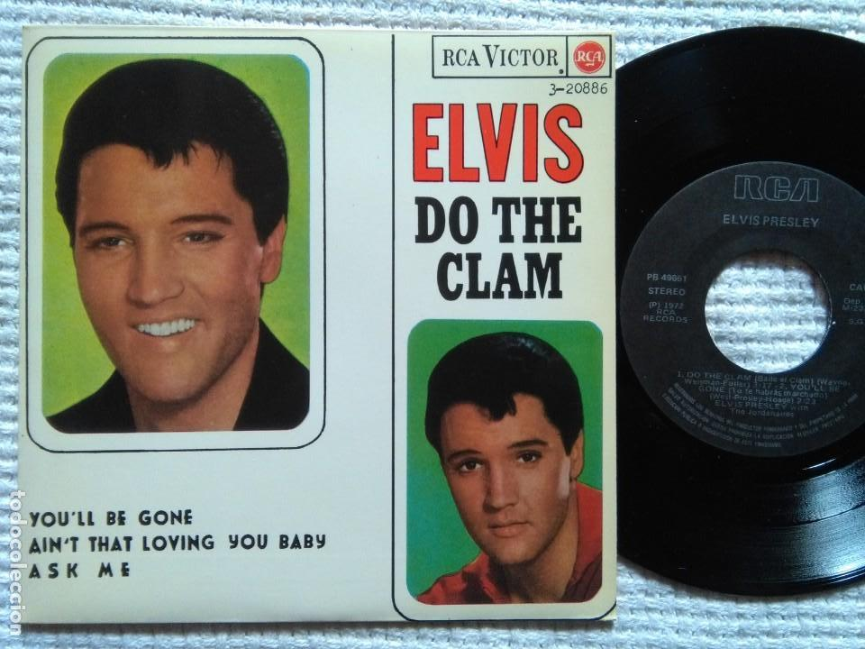 ELVIS PRESLEY '' DO THE CLAM + 3 '' EP 7'' REISSUE SPAIN 1987 (Música - Discos de Vinilo - EPs - Rock & Roll)