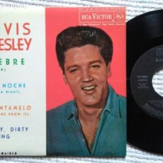 Discos de vinilo: ELVIS PRESLEY WITH THE JORDANAIRES '' FIEBRE + 3 '' EP 7'' REISSUE SPAIN 1987. Lote 137771298