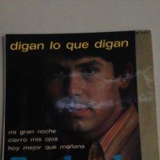 Discos de vinilo: DIGAN LO QUE DIGAN - RAPHAEL. Lote 137781554
