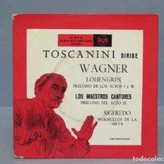 Discos de vinilo: DOBLE EP. TOSCANINI DIRIGE A WAGNER. Lote 137793882