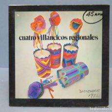 Discos de vinilo: EP. CUATRO VILLANCICOS REGIONALES. Lote 137794370
