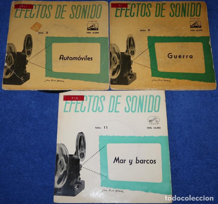 EFECTOS DE SONIDO - GUERRA - AUTOMÓVILES - MAR Y BARCOS (Música - Discos - Singles Vinilo - Otros estilos)