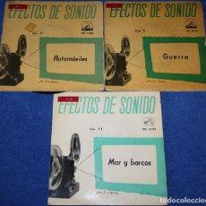 Discos de vinilo: EFECTOS DE SONIDO - GUERRA - AUTOMÓVILES - MAR Y BARCOS. Lote 137799198