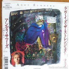 Discos de vinilo: OFERTA PROMO ANDY SUMMERS - LOVE IS THE STRANGEST WAY - SINGLE JAPON POLICE. Lote 137805178