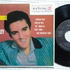 Discos de vinilo: ELVIS PRESLEY '' JAILHOUSE ROCK + 3 '' EP 7'' REISSUE SPAIN 1987. Lote 137814238
