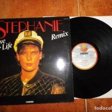 Discos de vinilo: STEPHANIE LIVE YOUR LIFE REMIX MAXI SINGLE VINILO DEL AÑO 1987 CONTIENE 3 TEMAS PRINCESA DE MONACO. Lote 137814846