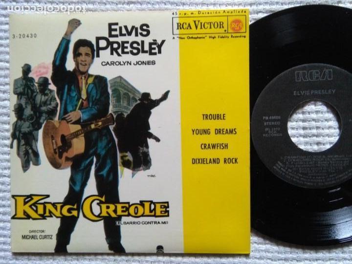 ELVIS PRESLEY '' KING CREOLE '' EP 7'' REISSUE SPAIN 1987 (Música - Discos de Vinilo - EPs - Rock & Roll)