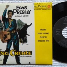 Discos de vinilo: ELVIS PRESLEY '' KING CREOLE '' EP 7'' REISSUE SPAIN 1987. Lote 137815830