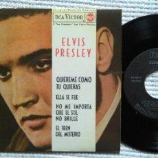Discos de vinilo: ELVIS PRESLEY '' QUIEREME COMO TU QUIERAS '' EP 7'' REISSUE SPAIN 1987. Lote 137816714