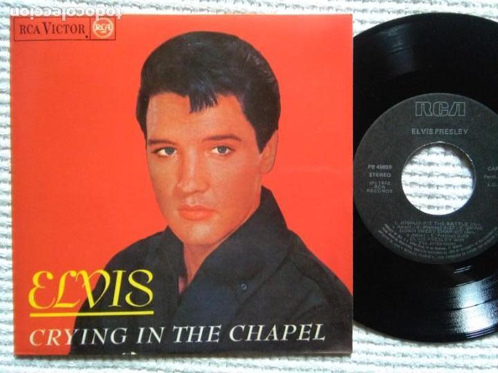 ELVIS PRESLEY '' CRYING IN THE CHAPEL '' EP 7'' REISSUE SPAIN 1987 (Música - Discos de Vinilo - EPs - Rock & Roll)