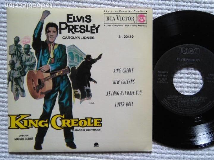 ELVIS PRESLEY '' KING CREOLE + 3 '' EP 7'' REISSUE SPAIN 1987 (Música - Discos de Vinilo - EPs - Rock & Roll)