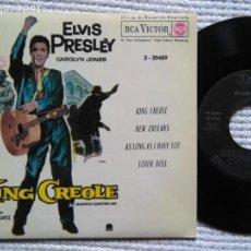 Discos de vinilo: ELVIS PRESLEY '' KING CREOLE + 3 '' EP 7'' REISSUE SPAIN 1987. Lote 137819922